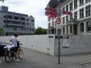 anstoesser gestattet. also, swiss bike route signs (1) are everywhere and (2) rock! (sursee, switzerland)