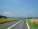 driving towards hindelbank, switzerland