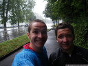 sudden rainfall in morges. we decided to go on.