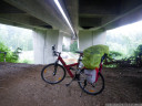 motorway bridge doubles as emergency rain shelter