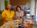 our hosts, claire and jean-luc