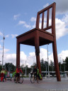 the broken chair, geneva, switzerland.