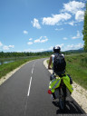 beautiful bike route along the rhone river, near belley