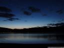 lac de paladru at dusk