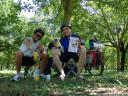 lunch break in a walnut plantation near saint-romans