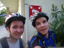 saulce-sur-rhone. happy to arrive after exactly 150.0 km, but no more energy left for proper smiles.