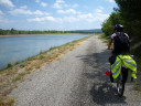 biking along the rhone river, on a series of decreasingly excellent roads