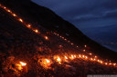 summer solstice fires - the sun symbol is set alight