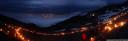 panorama: summer solstice fires at seegrube, innsbruck