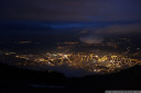view of innsbruck, and a few other solstice fires across the valley