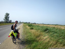 side- and head-winds (note horizontal reeds) got stronger as we approached the camargue coast