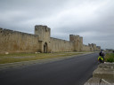 the city walls of aigues mortes