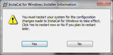 "4. Press OK in the Winzip Self Extractor popup and continue with the installation of ""Measurement Computing Software (InstaCal)"". When it's done, confirm the system restart popup with ""Yes""."
