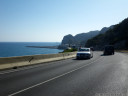 amazing coastal road at garraf, south of barcelona