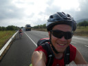 cycling on the N-340 towards alcala de chivert
