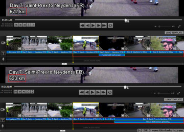 gopro studio title delay problem: before (upper) and after (lower) reopening a project file