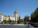 placa de la virgen - scenic tour (read: we lost our way) through valencia