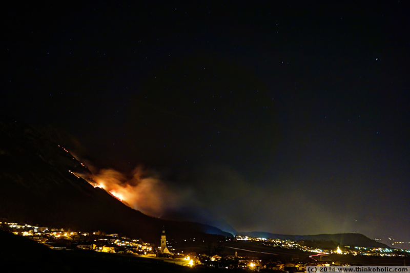 forest fires in absam, austria (2014-03-20)