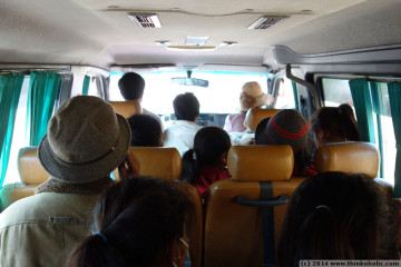 on the minibus to sen monorom
