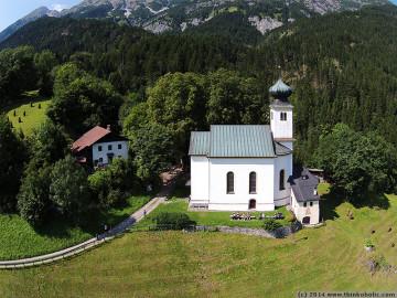 romediuskirche thaur from above (thaur, austria)