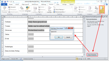 How to remove unknown passwords from protected Microsoft Word files