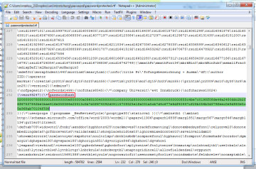 "Find (ctrl-f) ""passwordhash"" and replace the string that follows (marked here in green) with anything else (e.g. ""nopassword""). Save and close the file in your text editor. - How to remove unknown passwords from protected Microsoft Word files"
