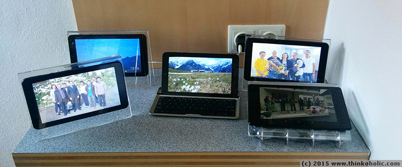 how to build a digital photo frame with wifi and dropbox using an android tablet for