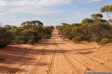 driving through the 21 hills area, calperum mallee, south australia