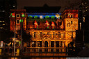 the customs house becomes a cartoon animation canvas