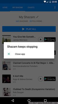 how to recover songs from a corrupted shazam library in android