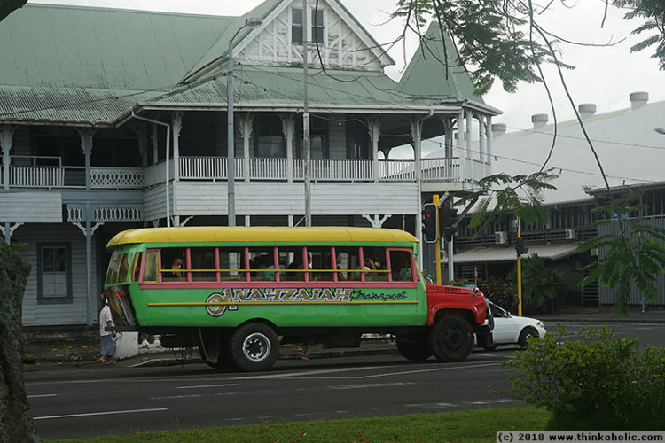 Western Samoa Independent Travel: Bus Schedule and Fares for Upolu Island, January 2018