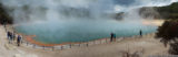 panorama: champagne pool, wai-o-tapu thermal wonderland, rotorua, new zealand