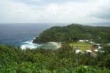view over apolima island, samoa