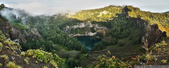 panorama: tiwu ata mbupu, kelimutu volcano, flores, indonesia