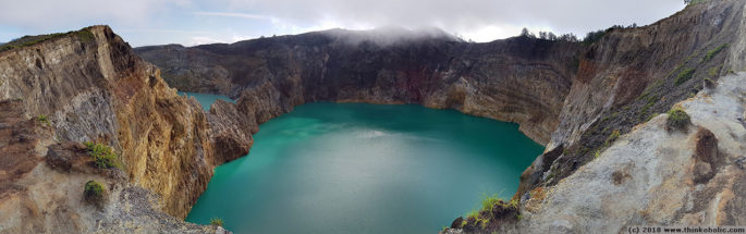 panorama: tiwu ata polo (and part of tiwu nua moori koohi fah in the left corner), kelimutu volcano, flores, indonesia