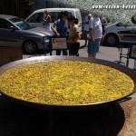 Eine fertige Pfanne Riesenpaella (Paella valenciana) (Foto: Markus Nolf / Vom Essen Besessen)