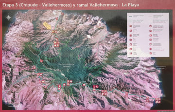 Overview map of GR131 - Camino Natural Cumbres de La Gomera