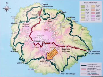 Overview map of GR132 - Camino Natural Costas de La Gomera