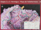GR132 day 2 extra map: Hiking routes around Playa de Vallehermoso